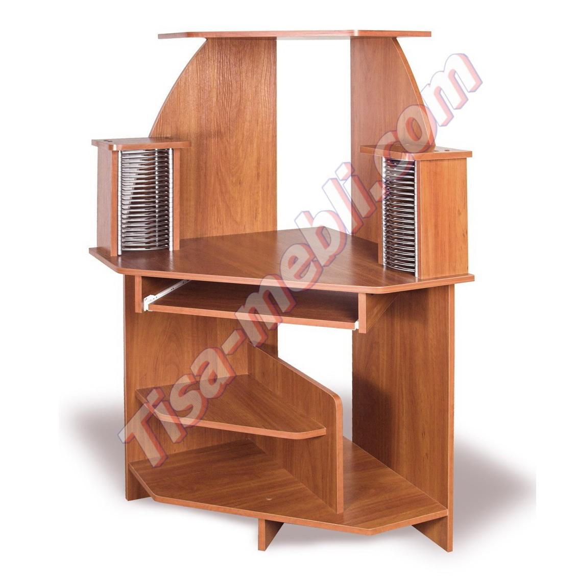 Компьютерный стол ск 71, без ящиков, с надстройкой, тиса меб.
